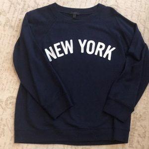 J. Crew embroidered New York sweatshirt